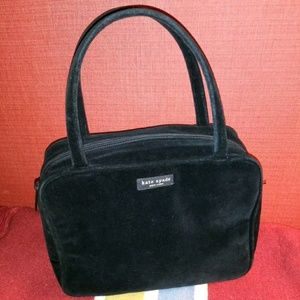Vintage Kate Spade Satchel Black Velvet Bag